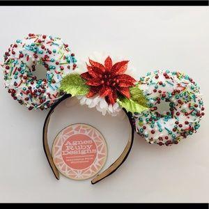 Poinsettia Christmas Disney Ins Minnie Mouse Ears